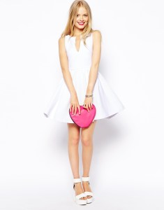 ASOS Sleeveless V-Neck White Skater Dress // Her Philly