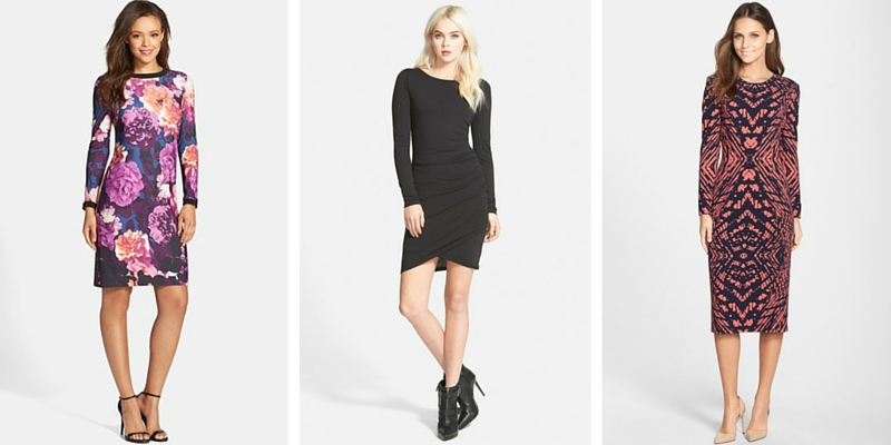 Best Long Sleeve Dresses from Nordstrom 2016
