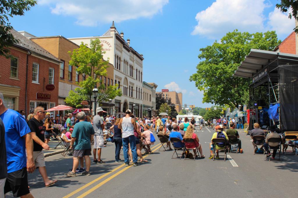 Main Street Bethlehem during Musikfest