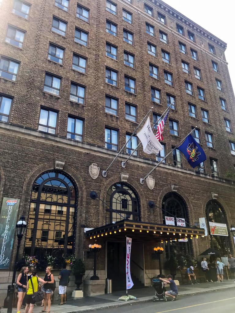 Outside of Hotel Bethlehem