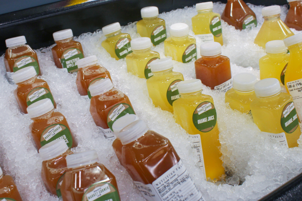 Cold drinks at Sprouts Philadelphia