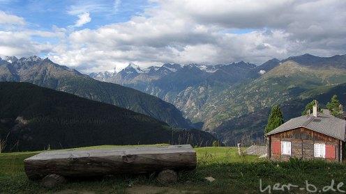 Ausblick an der Bergstation der Heidabahn