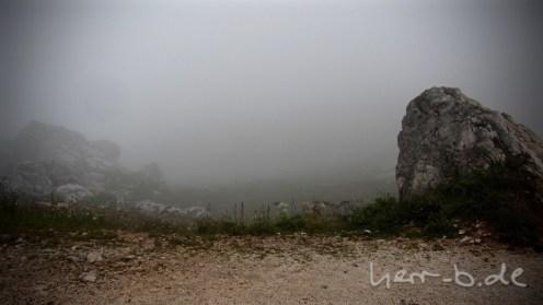 Für diesen Ausblick hat sich die Kletterei gelohnt (Rifugio Averau 2416m).