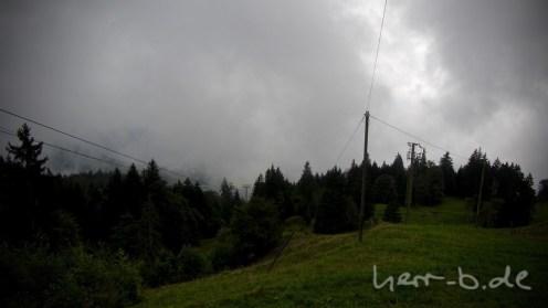 Aussicht auf Luzern von Alpgschwänd nach der Mittagspause.