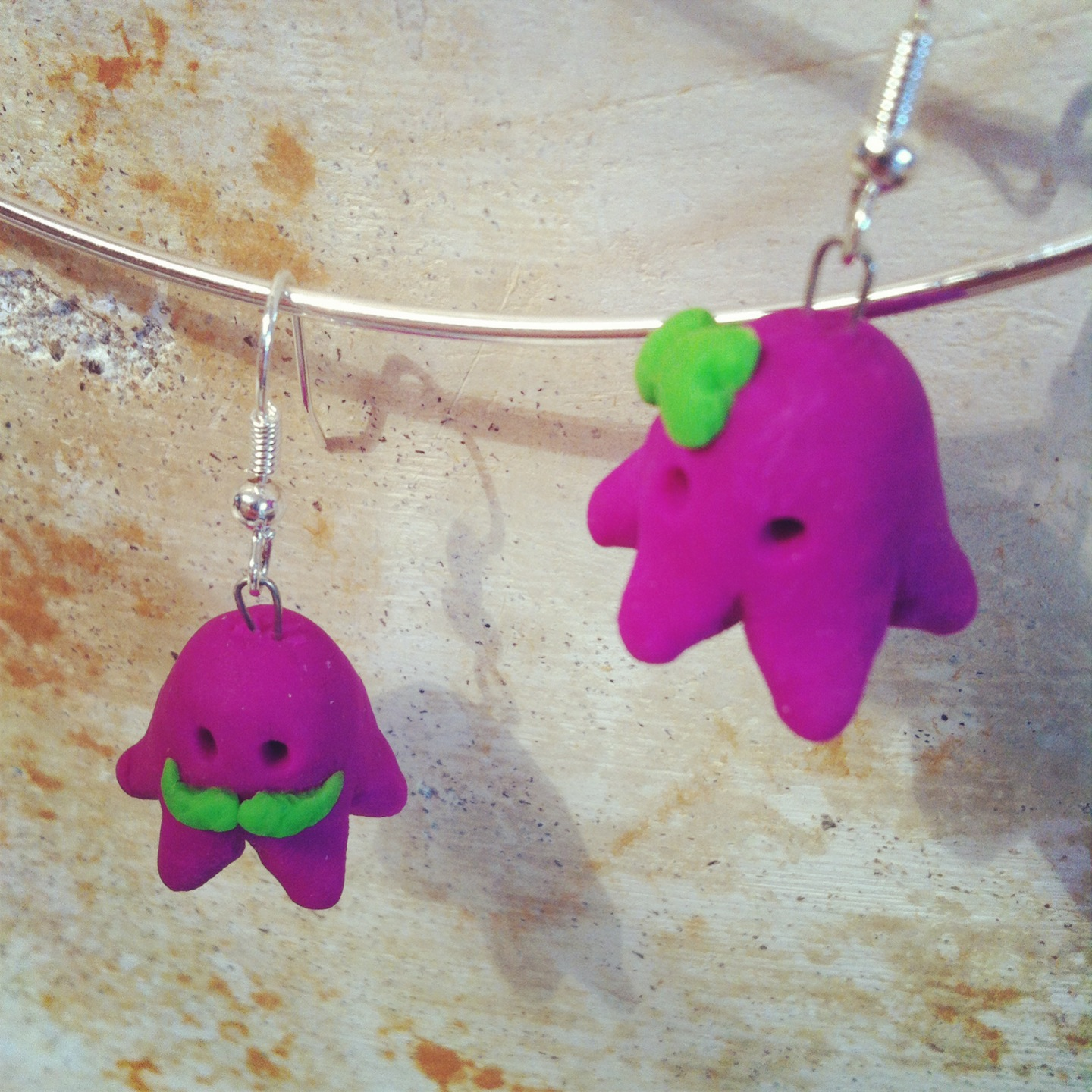 Octopus Hipster Couple Earrings