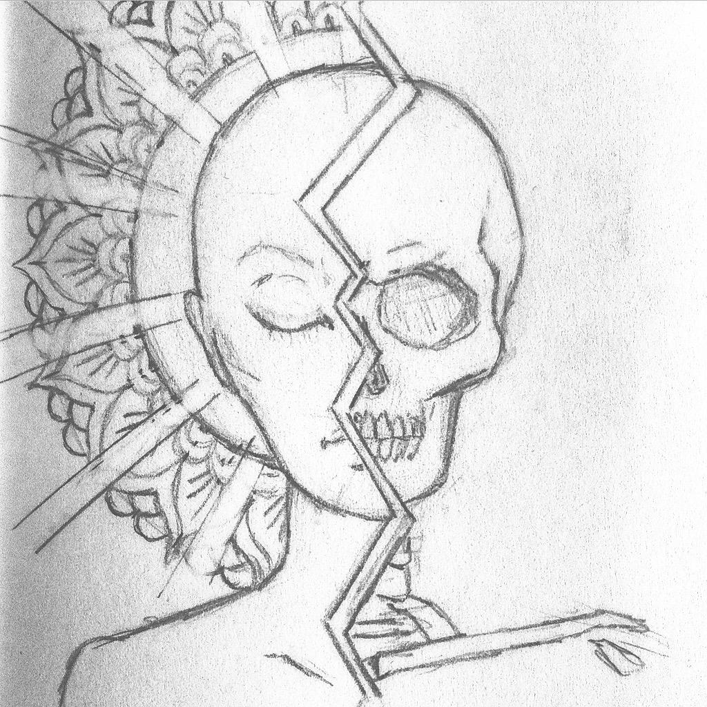 Drawing HerrBerta Mandala Skull - path to enlightenment