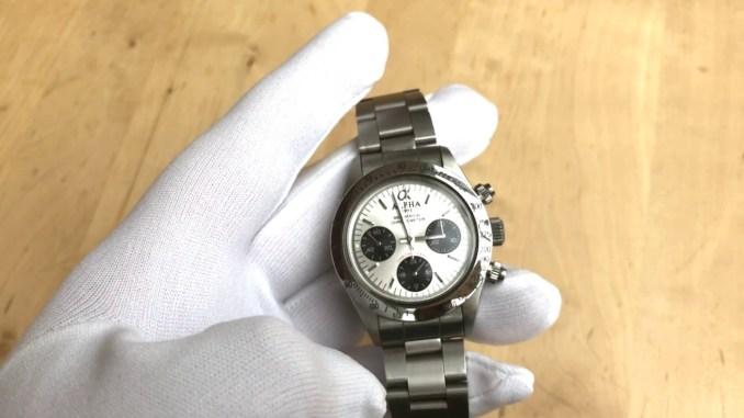 Alpha Watch / Uhr Chronograph Daytona Style Test Review Deutsch