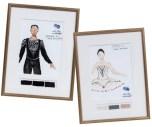 Croquis masculino e feminino dos figurinos da peça Symphony, assinado por Marc Happel