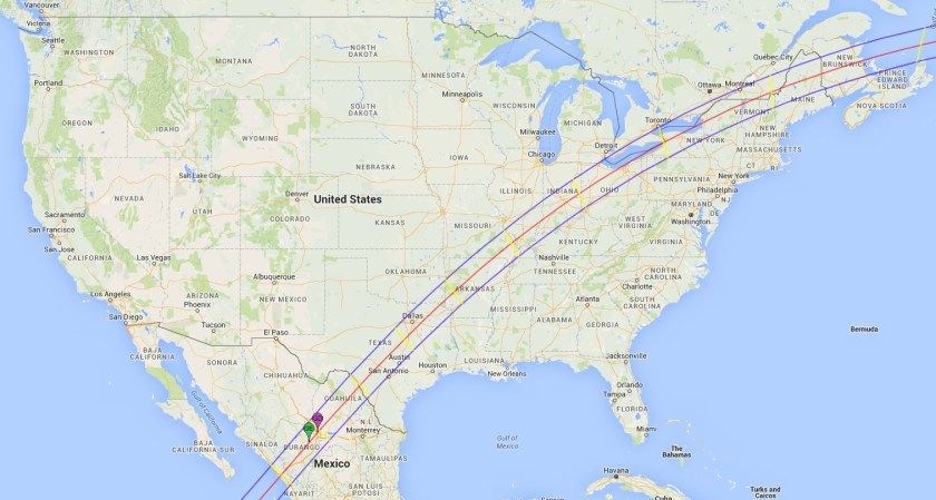 Path of the 2024 total solar eclipse