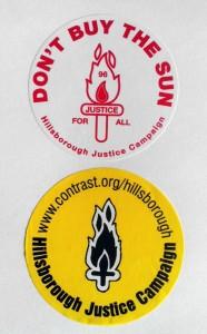 Grupper som Hillsborough Justice Campaign har meget af æren for, at fans nu har fået oprejsning. Billede fra bogen Fodboldhæren.