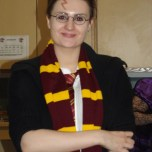 Miss Cooper as 'Harry Potter'