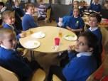 Everyone enjoyed their breakfast