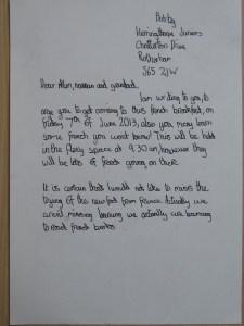 Bobby's Letter