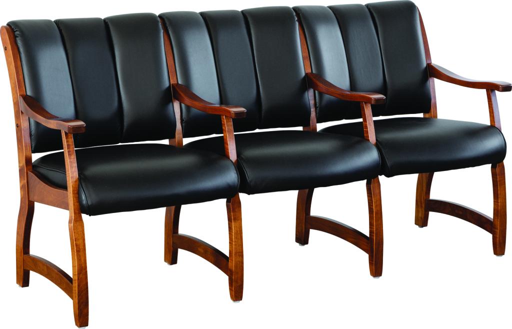 Midland 3 Seat Waiting Room Chair  Herrons Amish Furniture