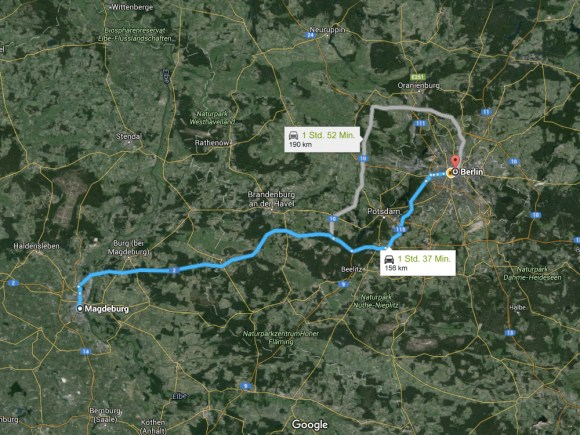 Strecke Magdeburg - Berlin