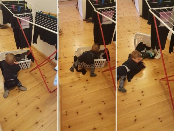 Hausarbeit mit Baby