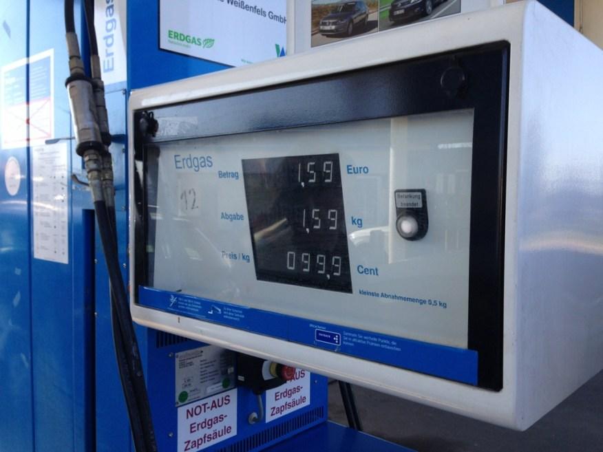 Erdgas für unter einen Euro pro Kilogramm