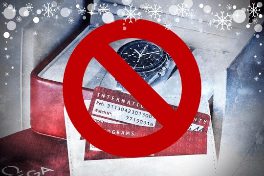 Armbanduhren sind keine Weihnachtsgeschenke!