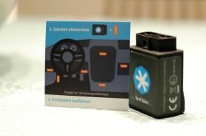 Sechs mögliche Steckplatzoptionen, abhängig vom Auto, gibt es für das OBD2 Modul von TankTaler. ©HerrundFrauBayer