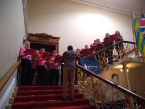 The Andover Museum Loft singers