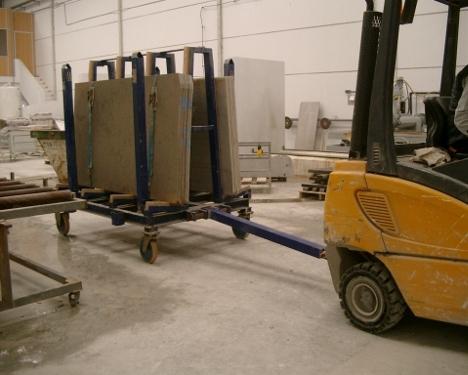 carro para cargar tablas de marmol