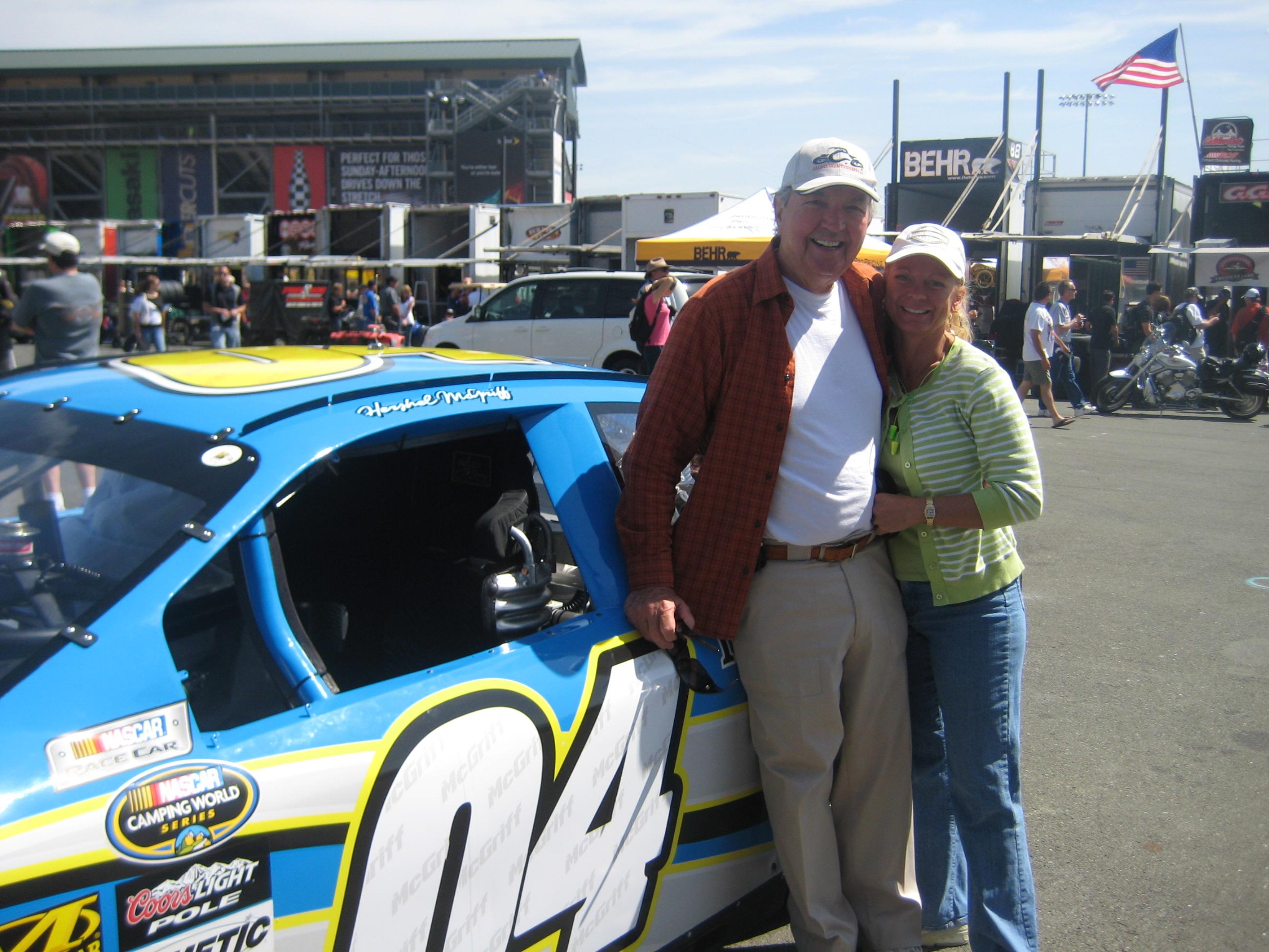 Hershel & Sherrie at Infineon Raceway - June 2009