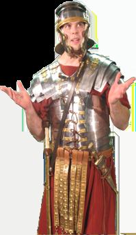 Hersheys History Roman Reenactor