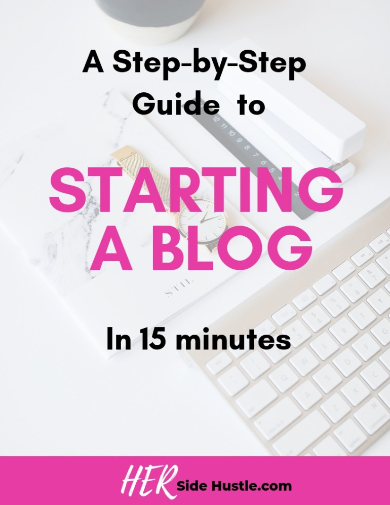 A guide to starting a blog in 15 minutes
