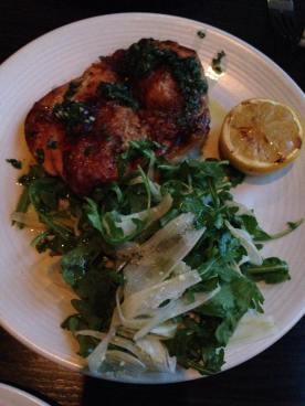 Pollo al mattone with salsa verde, arugula and lemon   Cento