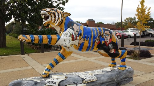 "Be sure to visit the ""Judge Elvis"" tiger."