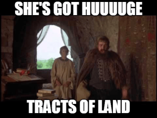 huge tracts of land