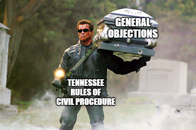 Tennessee general objections