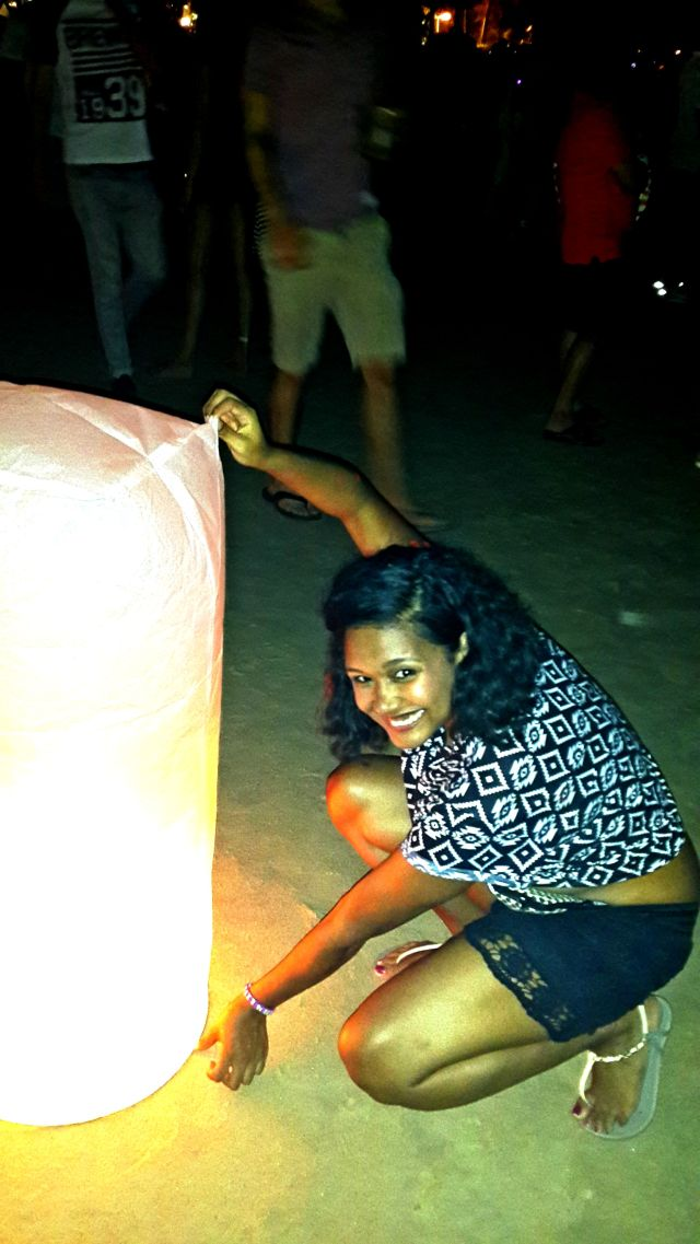 NYE on Patong beach! We lit Latins and made wishes for 2014!