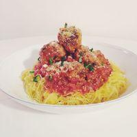 Spaghetti Squash + Meatballs