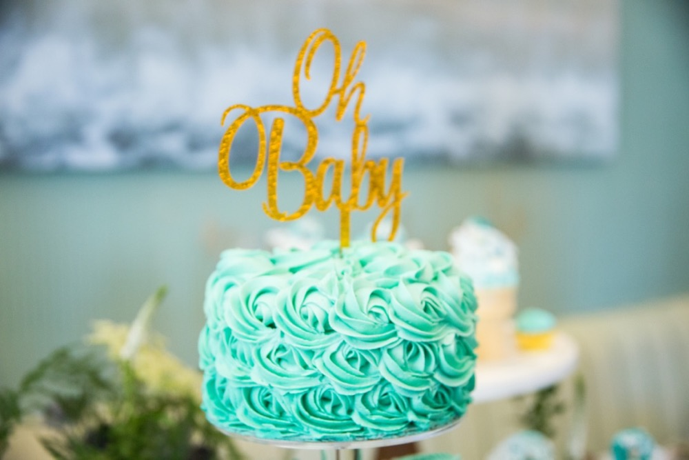 Things Say Baby Shower Cake