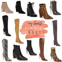 My 12 Favorite Fall Boots + Booties Right Now