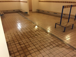 Grubby Ceramic Before Cleaning at Bishop Stortford Changing Rooms