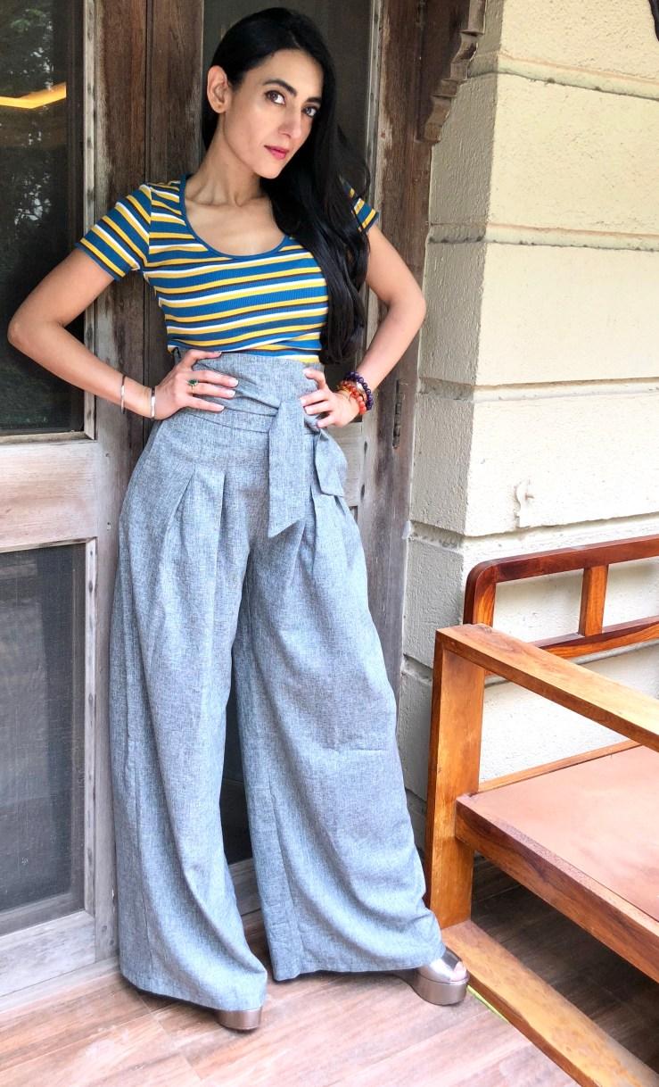 The High Waisted Wide Legged Pants - Rupika Chopra