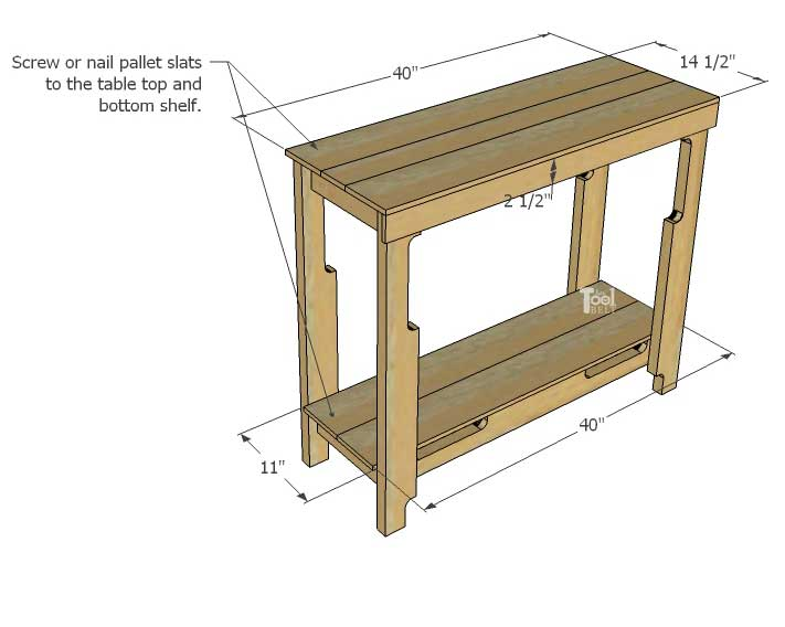 Turned Leg Farmhouse Table Plans Diy Free Pallet Porch Table - Her Tool Belt