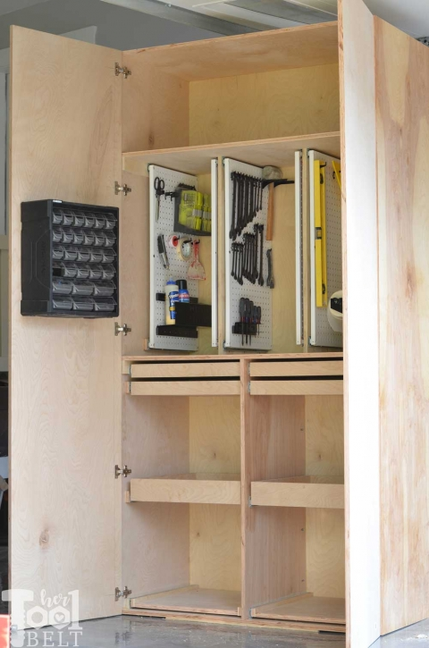 How To Build A Cabinet With Drawers And Doors : build, cabinet, drawers, doors, Garage, Storage, Cabinet, Plans