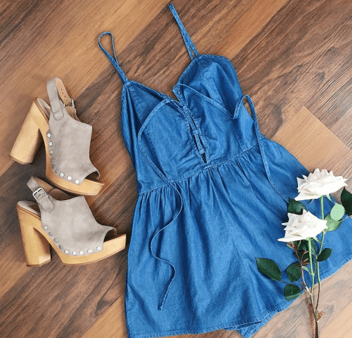 jean romper hertrack.com summer outfits