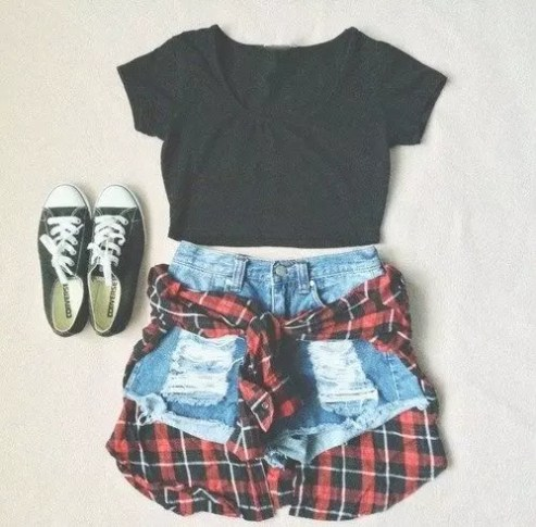 her track summer outfit punk