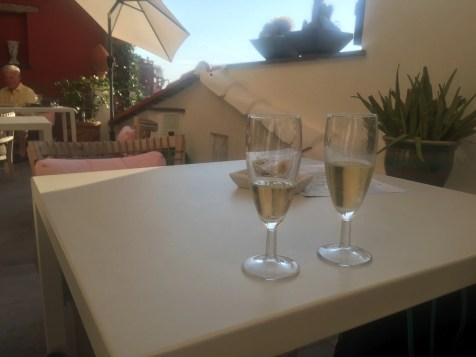Welcome Proseco on the Terrace