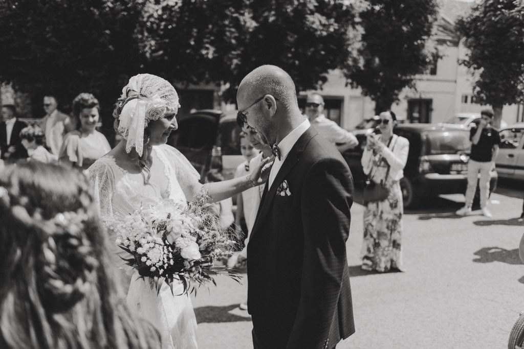 mariage bohème à la maison