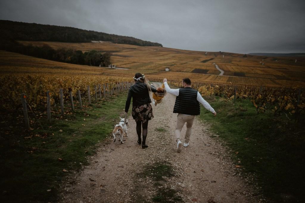 séance engagement dans les vignes