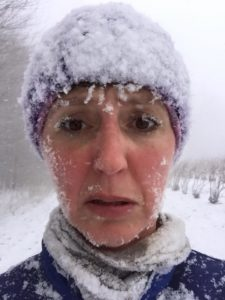 Running in Michigan in the winter means some pretty grueling conditions.