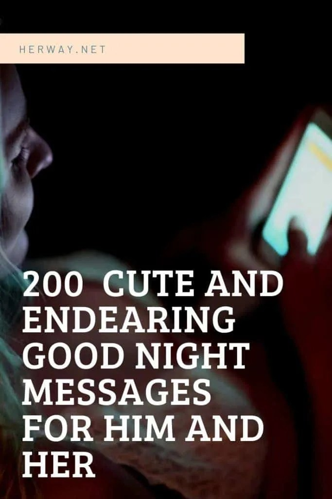 Sexy Goodnight Texts For Him : goodnight, texts, Endearing, Night, Messages