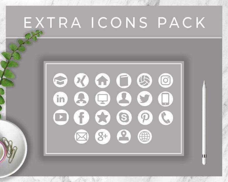 Bewerbungsvorlage Icons