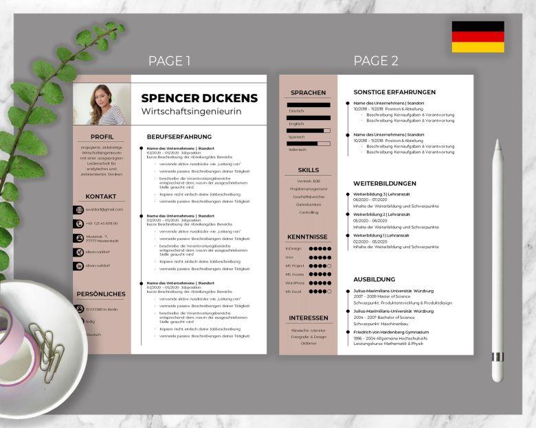 CV Template Spencer Dickens