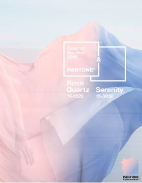 Pantone Rose Quartz and Serenity